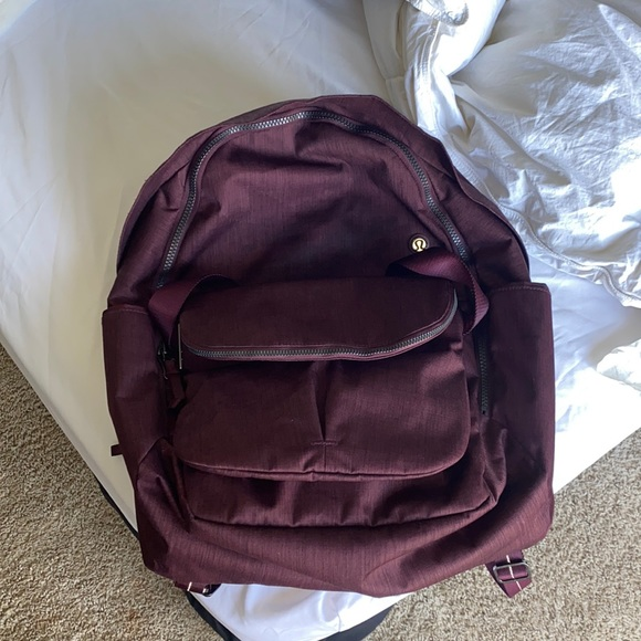 Burgundy Lululemon backpack